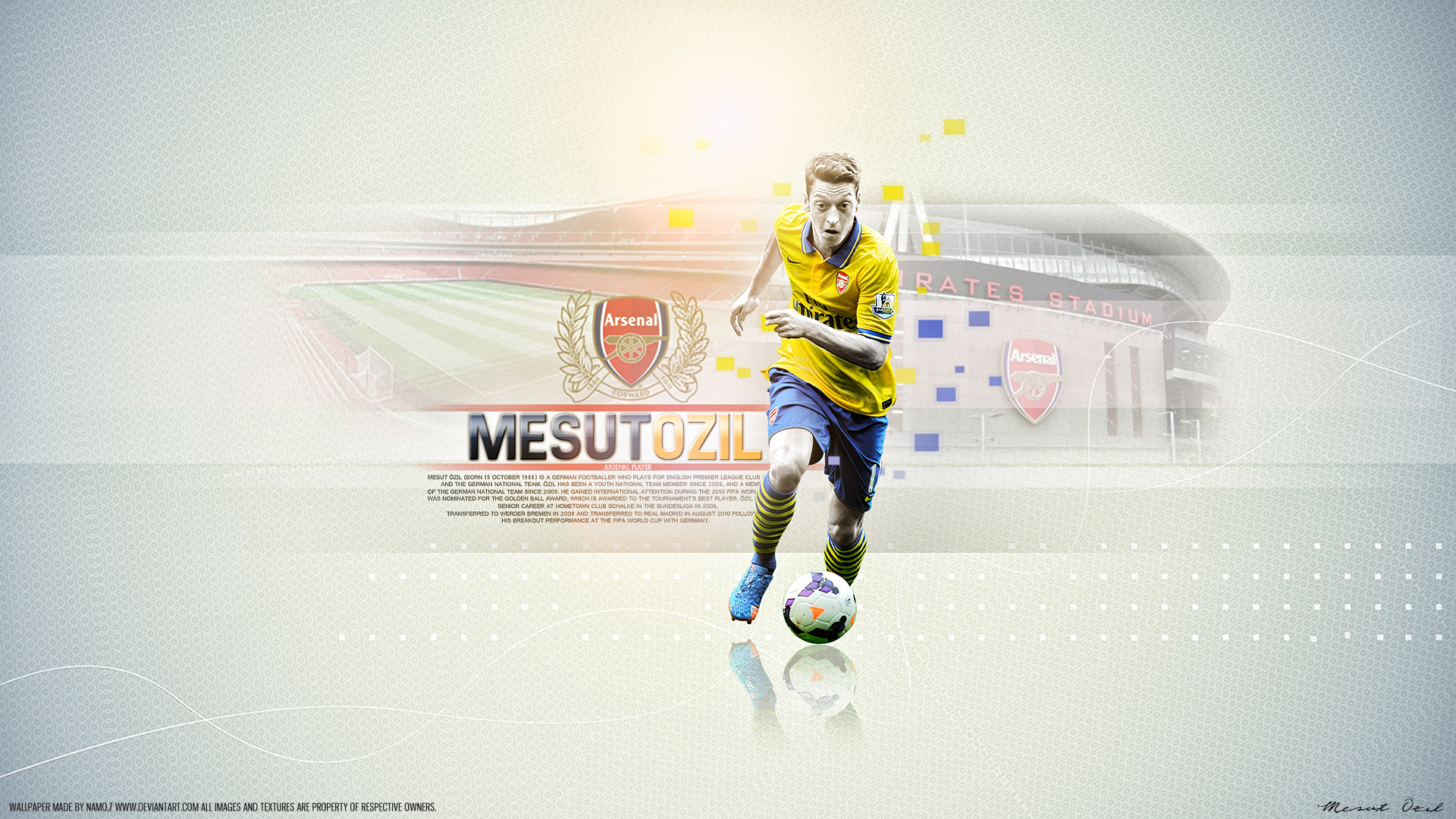 Mesut Özil 11 Arsenal by namo,7 by 445578gfx