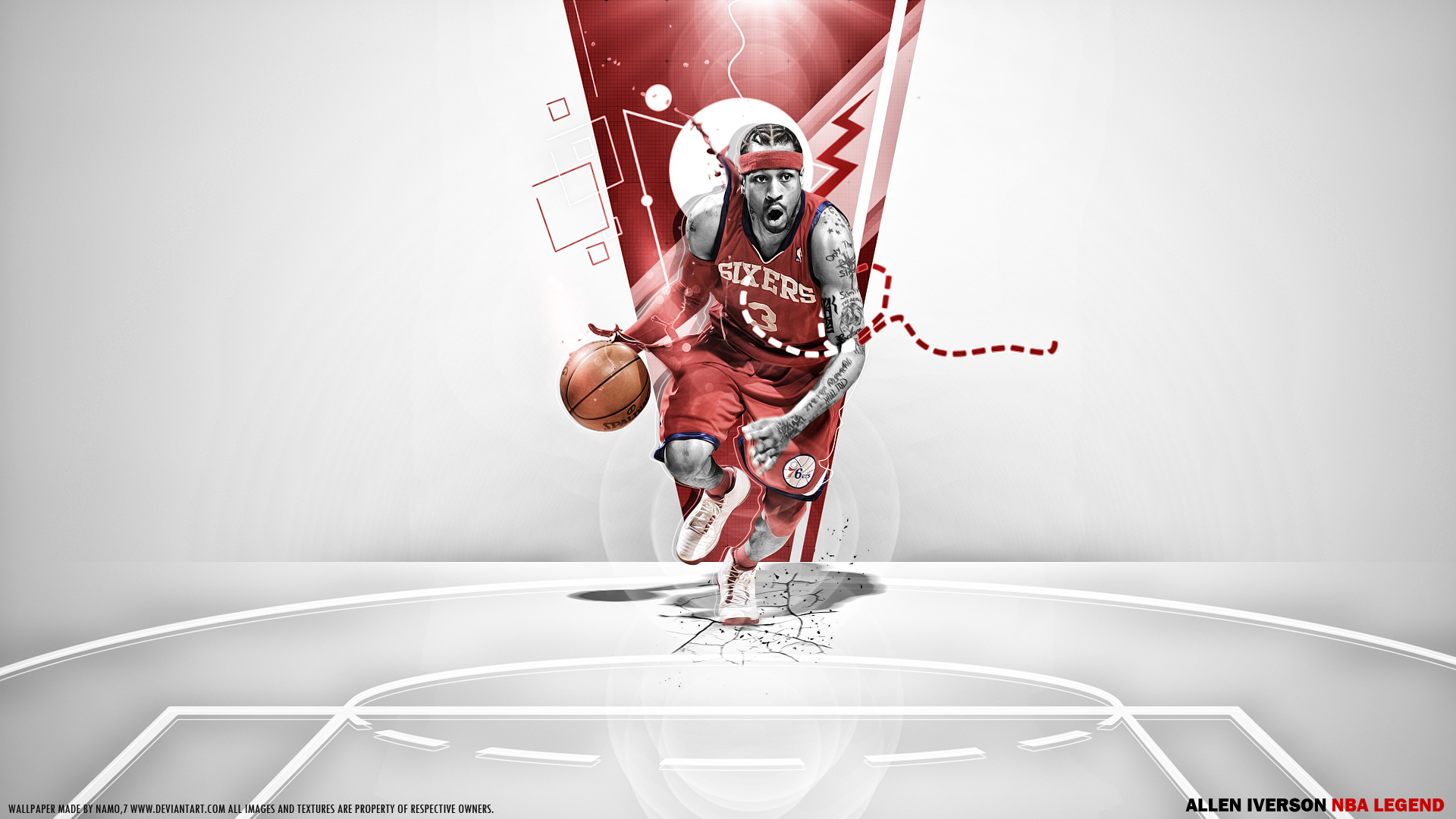 005 the nba legend Allen Iverson by namo,7 by 445578gfx on ...