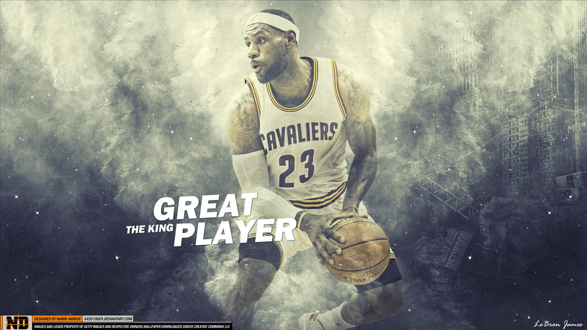 LeBron James GREAT PLAYER THE KING by namo,7 by 445578gfx on ...