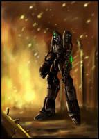 Robot of war by Paniti