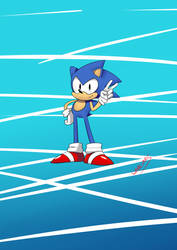 Classic Sonic Speed Paint by warcones