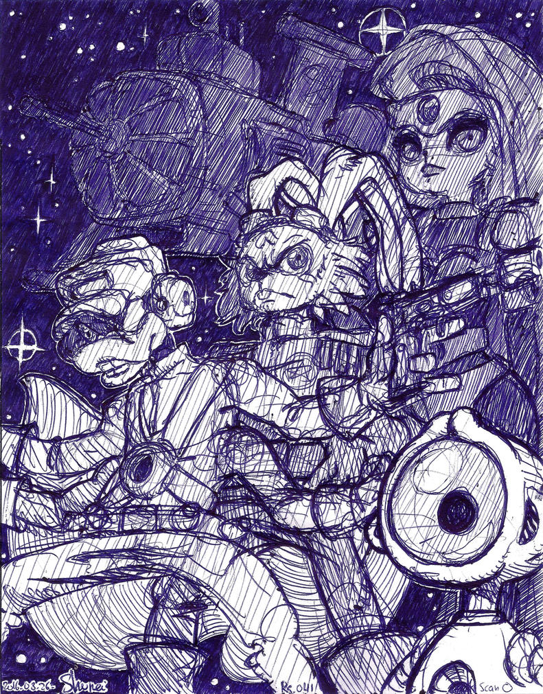 Rs[pen] 041 bucky o'hare crew by Shurei-Usagi