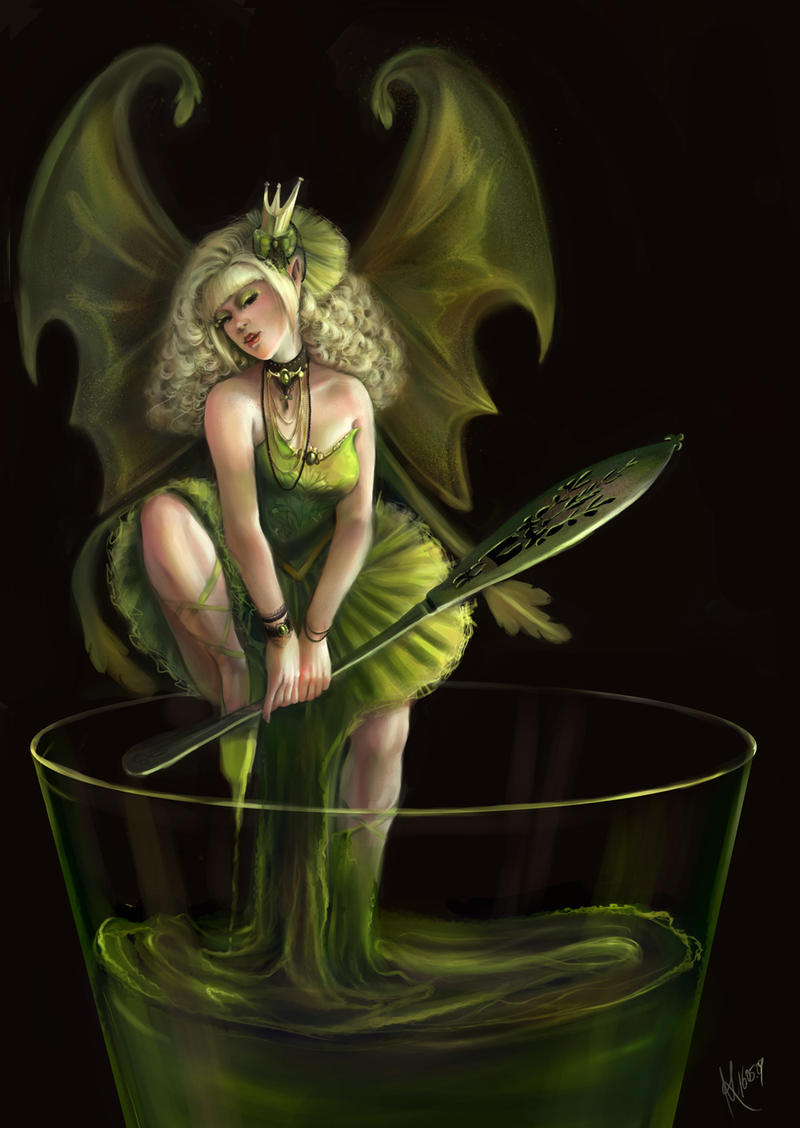 Green Fairy by avisnocturna