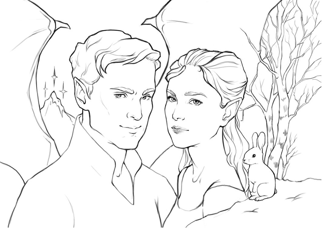 Feyre and Rhys by avisnocturna