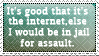 Assault and the internet stamp by Roots-Love
