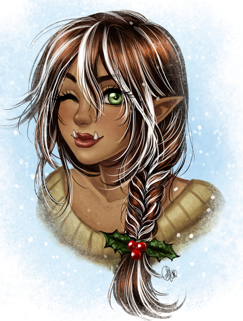Xmas Bust commission for Tbonehavoc by Roots-Love