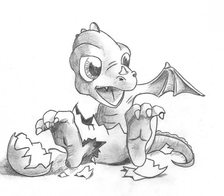 Hatching dragon by i like socks2 on deviantart - Dessin de bebe dragon ...