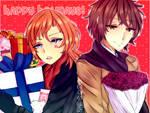 BSD [Fanart] Happy Holidays! by kyuuin