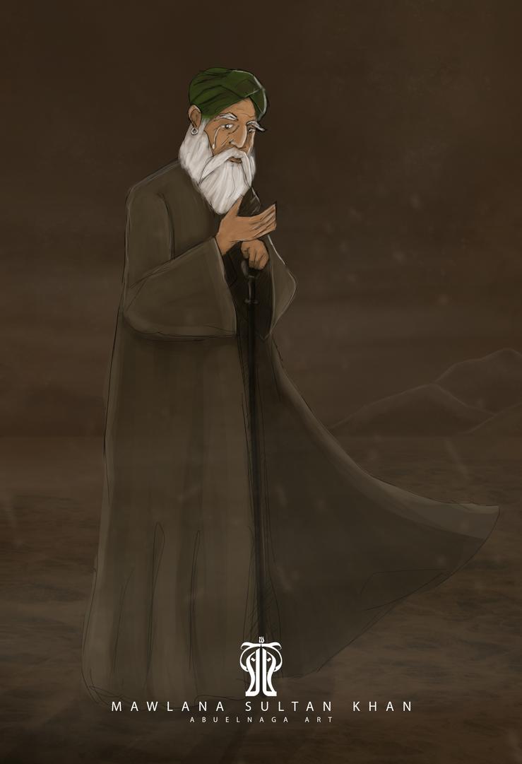 Mawlana Sultan Khan by AbuelnagaArt