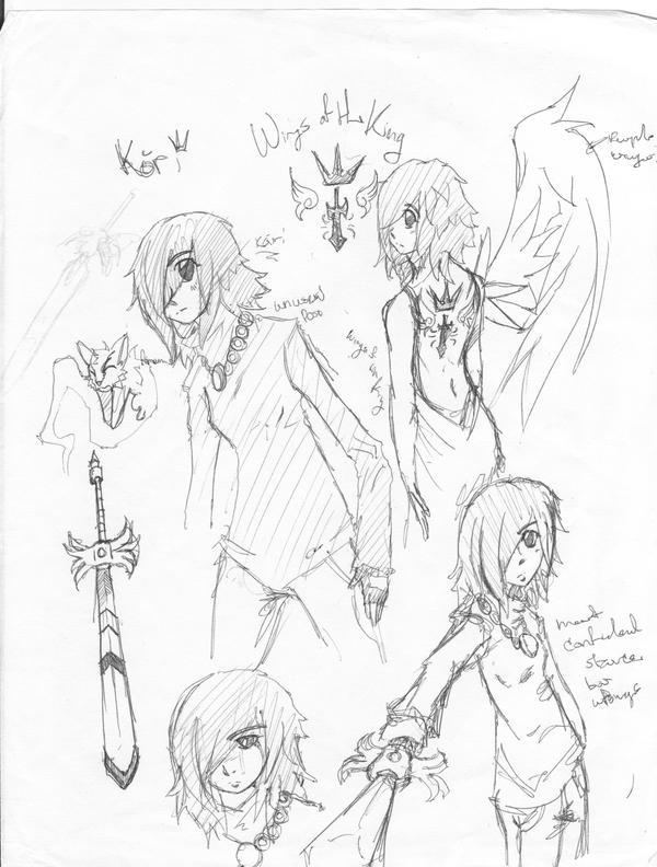 early kori sketchs by coolmonkeyd