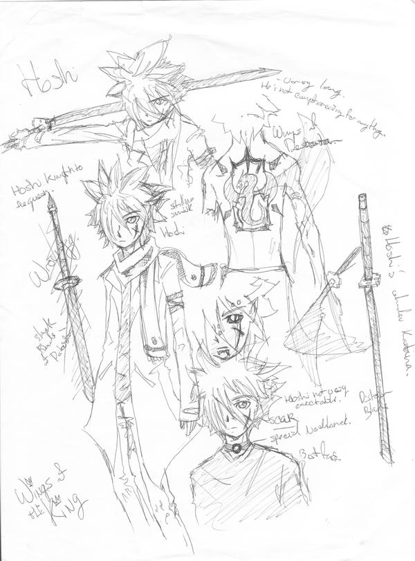 early hoshi sketchs by coolmonkeyd