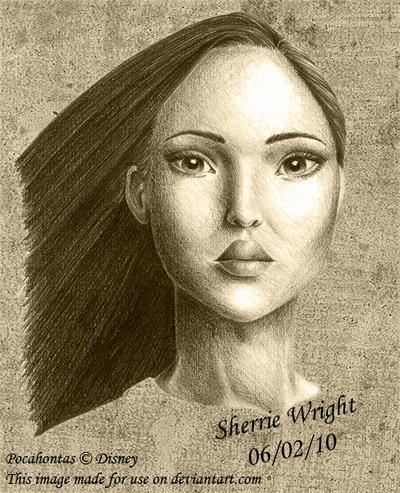 Pocahontas Pencil Drawings