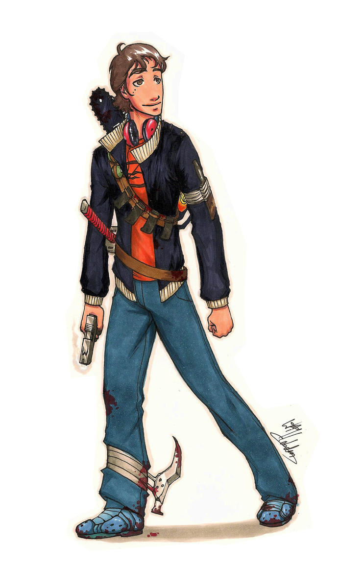 Character Design Zombie : Zombie apocalypse character by pencil fluke on deviantart