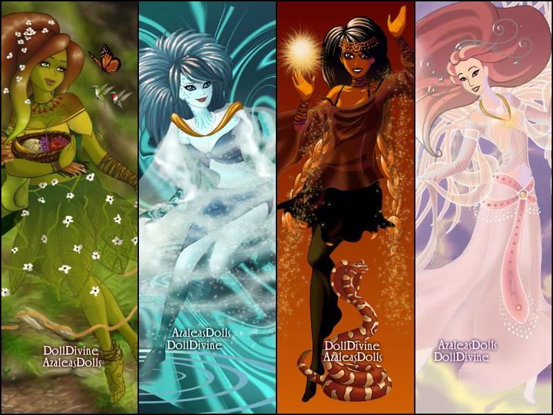 Four Elements Art : Four elements by cartoon girl 2010 on deviantart