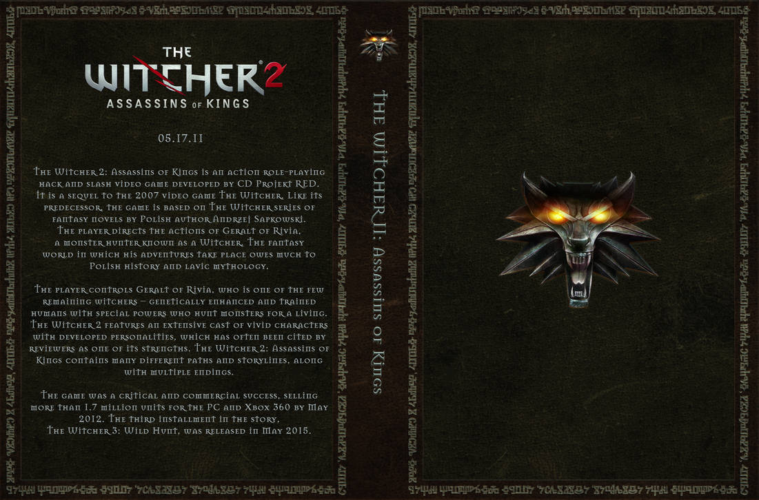 The Witcher 2 Custom Cover Art By Obscuriel On Deviantart