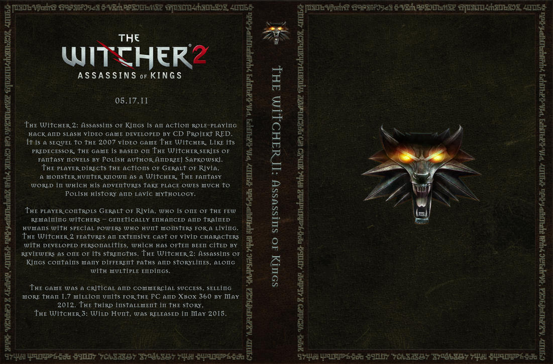 The Witcher 2 Custom Cover Art by Obscuriel