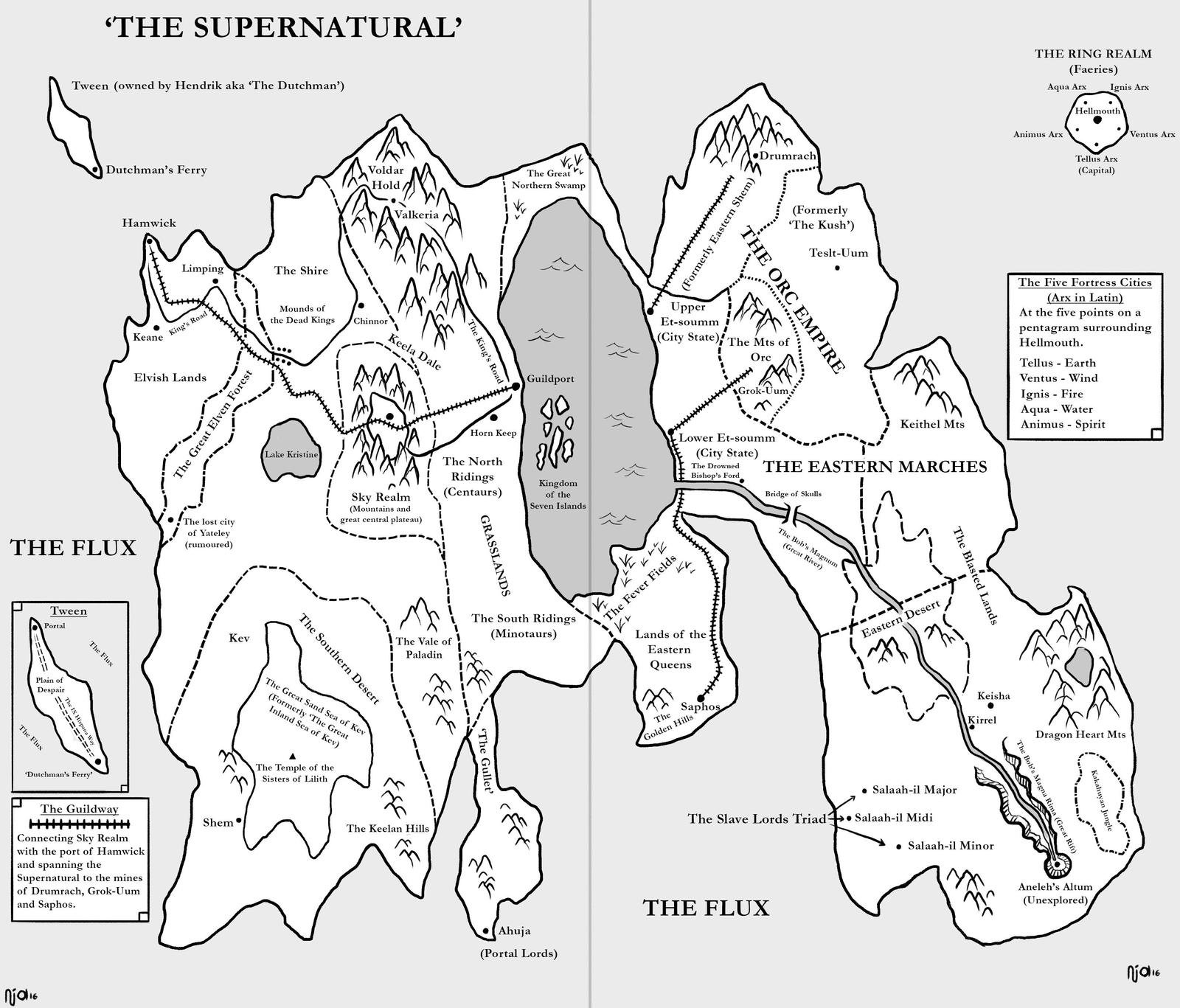 The Supernatural World (Of Demons and Blue Moons) by Trench-ADF