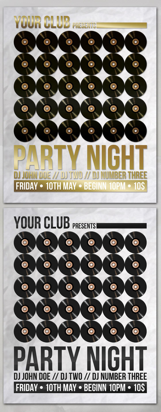 Party Night - Flyer Template by isoarts2