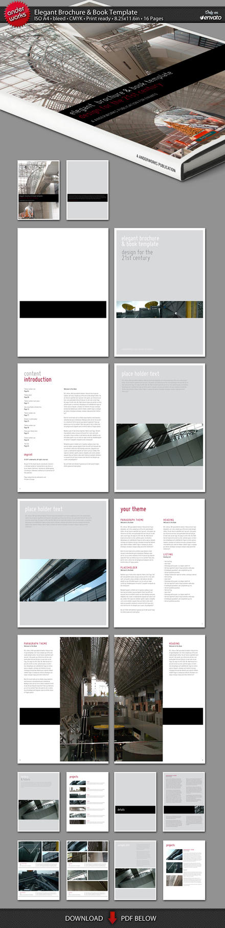 Elegant brochure book template by isoarts2 on deviantart for Elegant brochure templates