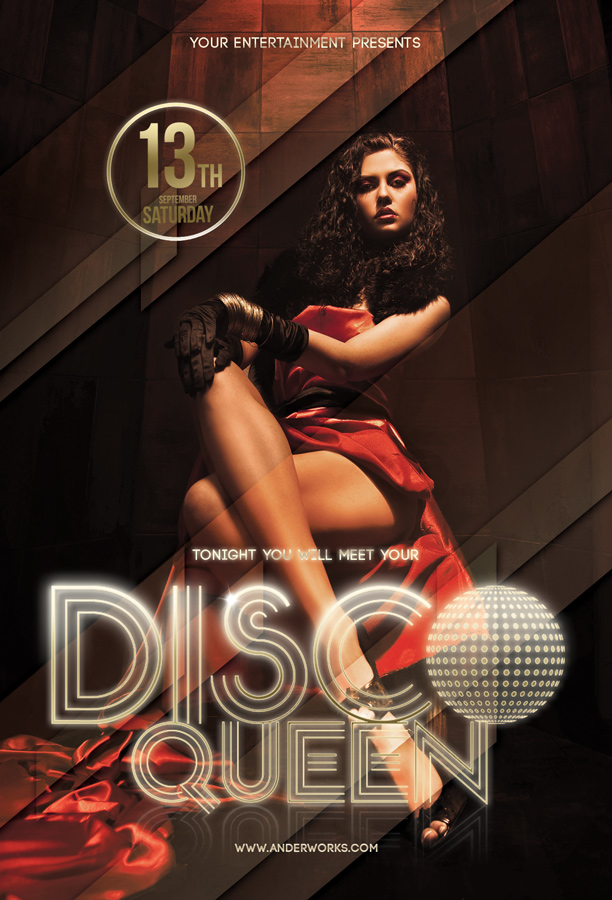 Disco Queen - Flyer template by isoarts2