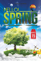Hello Spring - Flyer template by isoarts2