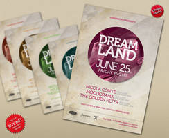 Dreamland Vol.2 - Party Flyer by isoarts2