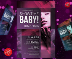 Showtime Baby - Party Flyer by isoarts2