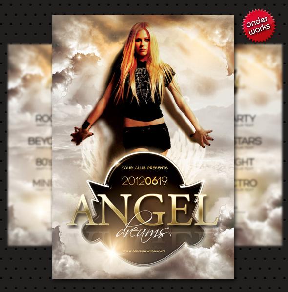 Angel Dreams - Flyer template by isoarts2