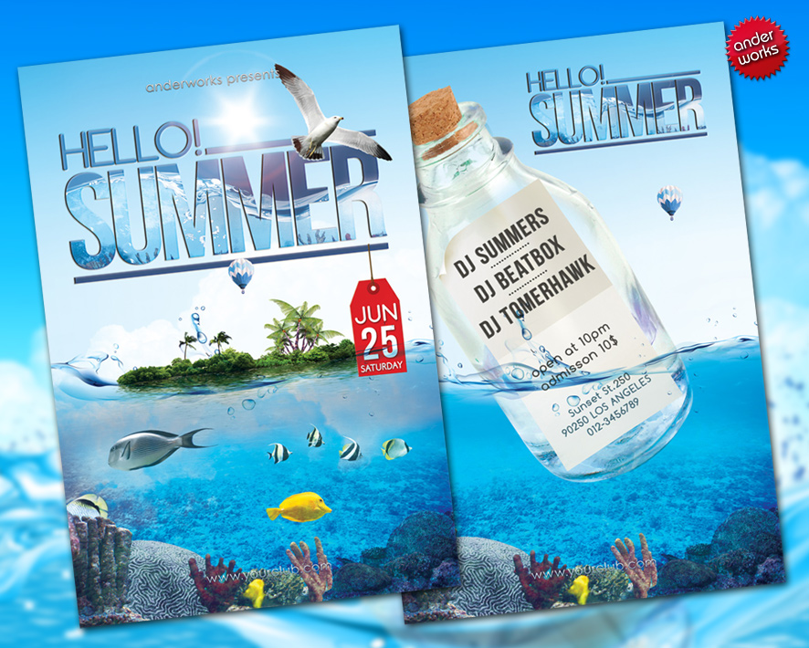 Hello Summer  Flyer Template By Isoarts On Deviantart