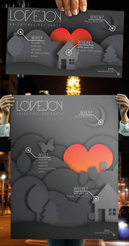 Lovejoy - Valentines Party Poster + Flyer Set