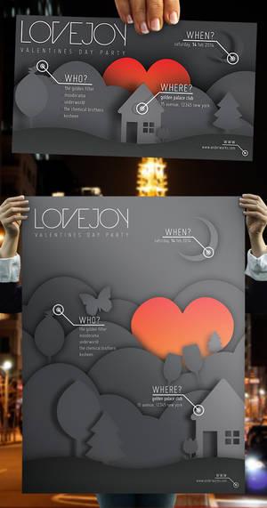 Lovejoy - Valentines Party Poster + Flyer Set