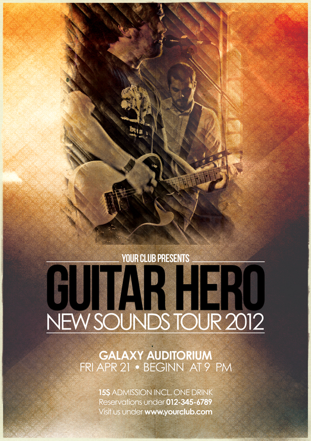 Music Flyer Vol.6 - Guitar Hero By Isoarts2 On Deviantart