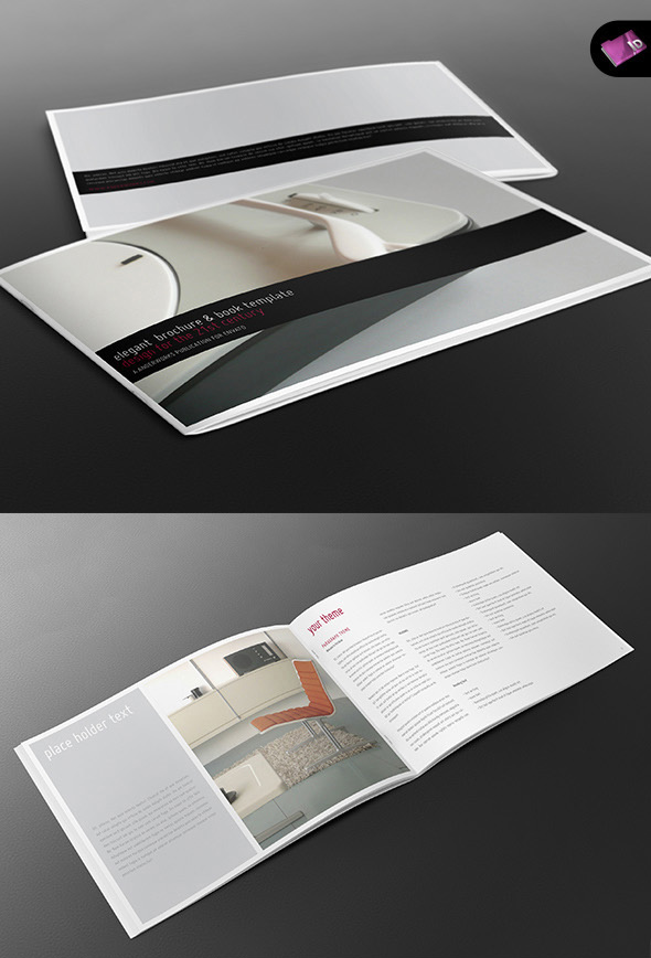 book brochure template - elegant a4 landscape book brochure template by isoarts2