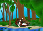 Cuteness in the woods by Ryuukei8569