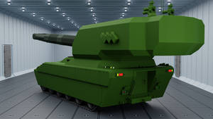 200 mm Artillery Tank Rear