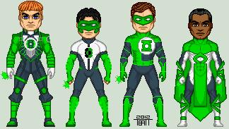 Earth's Green Lanterns Redesigns by EverydayBattman