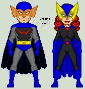 Silver Age Shadowhawk and Lady Shadowhawkette by EverydayBattman
