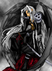 Sephiroth Angel of Darkness by pixelmuse