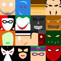 Batman Villains - Minimalism by tdj1337