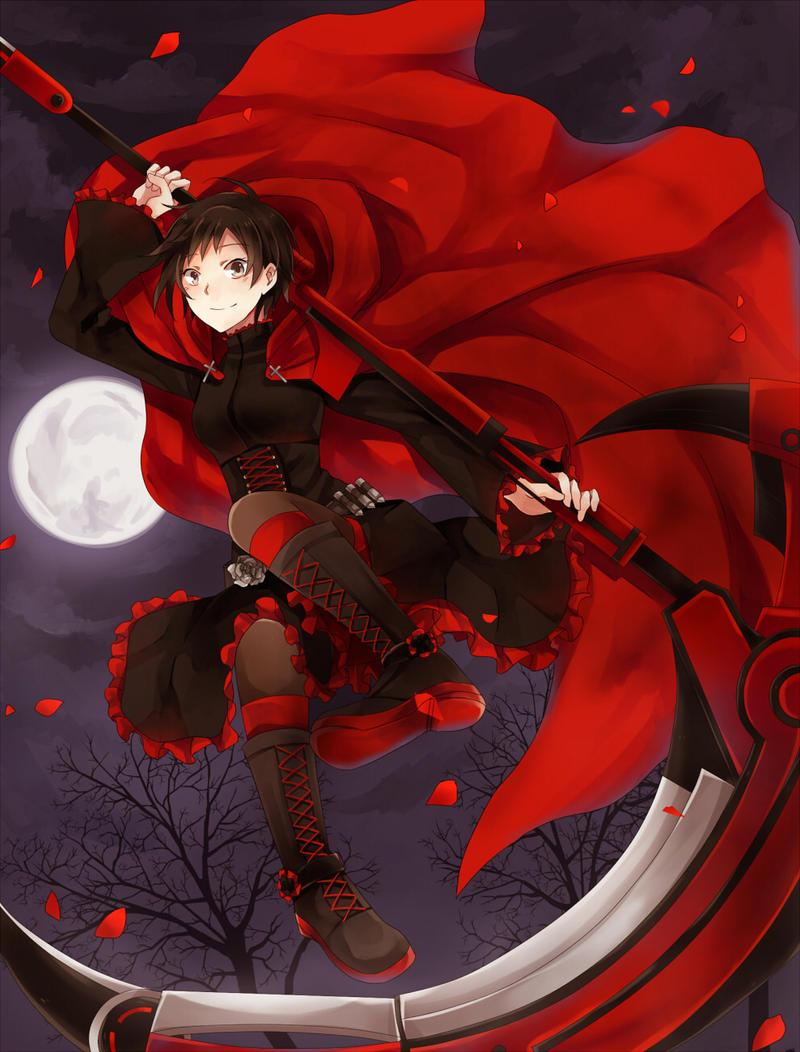 Pin en Drawing Anime  |Ruby Red Fan Art