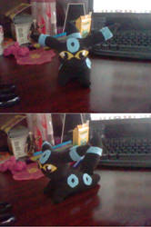 Homemade Shiny Umbreon Plush by MaySadet1991