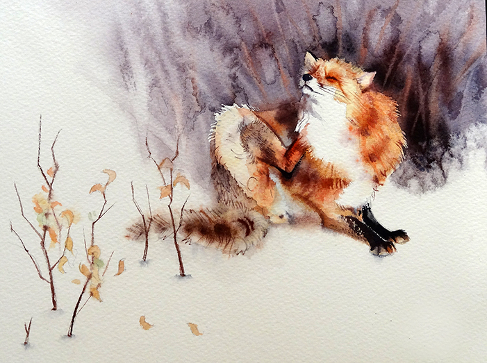 Beautiful watercolor Illustration by Clara Tessier