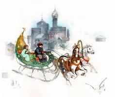 the pumpkin-sleigh by claratessier