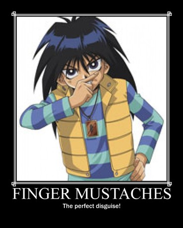 YGO: Finger Mustaches by Donteatacowman