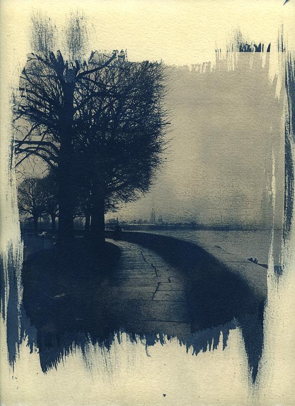 Bleak. Cyanotype print by urbantrip