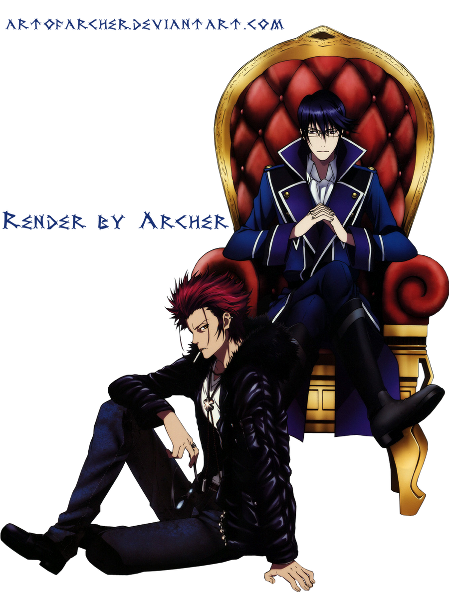 Reishi Munakata and Mikoto Suoh Render by ArtOfArcher