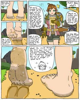 Walking In Zelda's Shoes (Manga Page Practice)