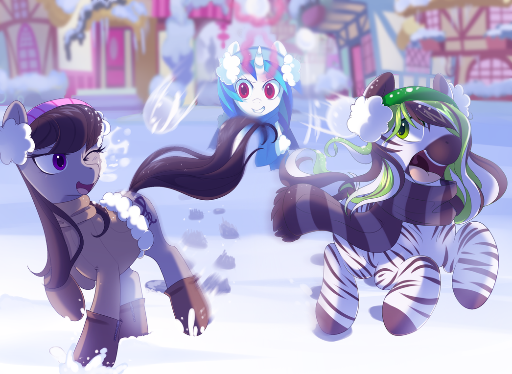 Snow Days With Vinyl And Octavia By Hyperfreak666 On