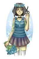 Flower Girl (+Speedpaint) by YokoMoNe