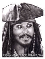 Jack Sparrow drawing, aye? by xnicoley